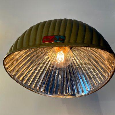 Appliques en cristal argenté et laiton de la marque « GAL - société française d'éclairage »