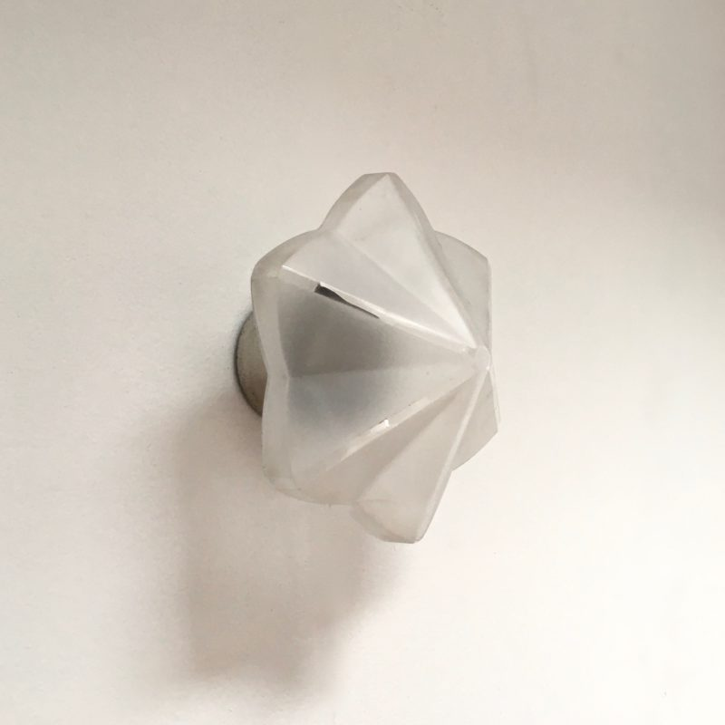 Applique hexago étoile verre sablé 3:4 éteinte_Maison_Liedekerke_maison-lk