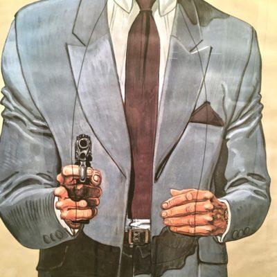 Affiche-PJ-homme-costume_zoom-pistolet_Maison_Liedekerke_maison-lk