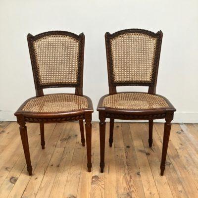 Paire_chaises_Louis XVI_Maison_LIedekerke_maison-lk.com